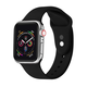 POSH TECH 38mm Silicone Sport Black Apple Watch Wristband