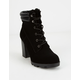 BAMBOO Lace Up Heel Womens Work Boot