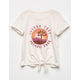 WHITE FAWN Joshua Tree Girls Tie Front Tee