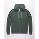 INDEPENDENT TRADING COMPANY Green Mens Zip Hoodie