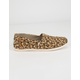 TOMS Classic Desert Tan Microfiber Leopard Print Womens Slip-On Shoes