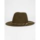 Felt Fedora Olive Hat