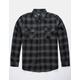 RSQ Alta Flannel Charcoal & Black Mens Shirt