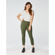 RSQ High Rise Ankle Womens Olive Skinny Jeans