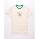 NEON RIOT Felix The Cat Text Stripe Mens T-Shirt