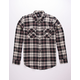RSQ Stern Plaid Flannel Mens Shirt