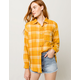 FULL TILT  Boyfriend Mustard Womens Flannel Shirt