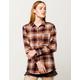 FULL TILT Boyfriend Rust Womens Flannel Shirt