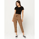 SKY AND SPARROW Tie Waist Button Womens Trouser Pants
