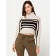 FULL TILT Chest Stripe Womens Crop Turtleneck Sweater