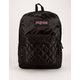 JANSPORT Super FX Black Satin Diamond Quilting Backpack