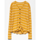 WHITE FAWN Stripe Button & Tie Front Mustard Girls Thermal