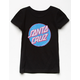 SANTA CRUZ Lined Dot Black Girls Tee