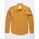 VSTR Solid State Mens Mustard Flannel Shirt
