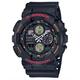 G-SHOCK GA140-1A4 Black & Red Watch