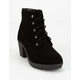 SODA Lace Up Black Girls Boot