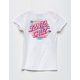 SANTA CRUZ Note Dot White Girls Tee