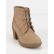 SODA Lace Up Taupe Girls Boot