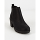 SODA Heeled Gore Black Girls Boot