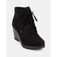SODA Wedge Faux Suede Lace-Up Womens Booties