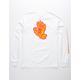 SANTA CRUZ Flame Hand White Boys T-Shirt