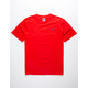 RUSSELL ATHLETIC Baseliner Red Mens T-Shirt
