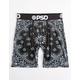 PSD Black Bandana Mens Boxer Briefs