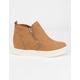 SODA Zip Platform Tan Womens Shoes