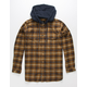 IMPERIAL MOTION Parker Mens Hooded Flannel Shirt