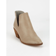 BEAST FASHION Chop Out Gray Womens Booties