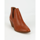 BEAST FASHION Chop Out Cognac Womens Booties