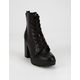 SODA Lace Up Platform Boots