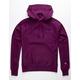 CHAMPION Embroidered Purple Mens Hoodie