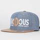 FAMOUS STARS & STRAPS Patchwork Mens Strapback Hat