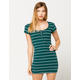FULL TILT Stripe Henley Bodycon Dress