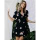 VOLCOM Wrapsicle Black Wrap Dress
