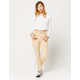 SKY AND SPARROW Skinny Fray Crop Womens Jeans