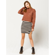 FULL TILT Stripe Bodycon Mini Skirt