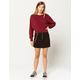 FULL TILT Half Zip With Chain Womens Mini Skirt