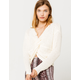 IVY & MAIN Twist Front Cream Womens Pullover Sweater