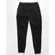 BROOKLYN CLOTH Twill Cargo Pocket Black Mens Jogger Pants