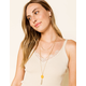 WEST OF MELROSE Layered Stone Necklace