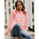 CHAMPION Raglan Coral Girls Sweatshirt
