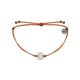 PURA VIDA Wave Coin Charm Orange Bracelet