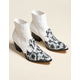 COCONUTS Western Toe White Womens Booties