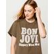 BAND MERCH Bon Jovi Boyfriend Womens Tee