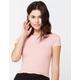 DESTINED Wide Rib Knit Womens Pink Tee