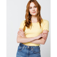 DESTINED Ribbed Lettuce Edge Womens Sun Crop Tee
