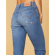 LEVI'S Wedgie High Rise Womens Skinny Ripped Jeans