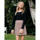 WHITE FAWN Plaid Girls Skater Skirt